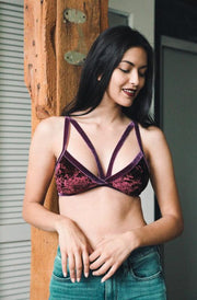 The Shira Bralette Wine - Paprika Belle