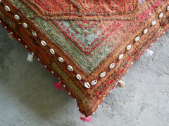 "Large floor pillow cover - patchwork floor cushion - ""Colors of the desert "" bohemian gypsy decor"