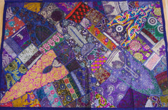 "Wall decor Indian patchwork tapestry - wall hanging ""Arabian nights"" Bohemian gypsy wall decor"