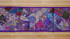 "Table runner - vintage saree tapestry - ""Arabian Night"" dark blue wall hanging- hippie home decor"