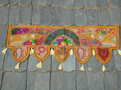 Door toran- colorful wall decor - hippie decor - gypsy curtain - window valance