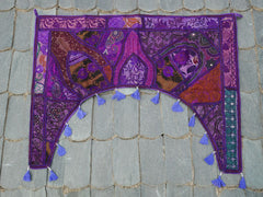 "Door hanging - Toran - gypsy curtain ""Bohemian jewel"" window valance, Indian Boho wall decor"