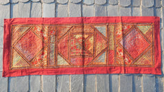 "Table runner - handmade patchwork tapestry ""Colors of the desert life"" wall hanging- hippie home decor"