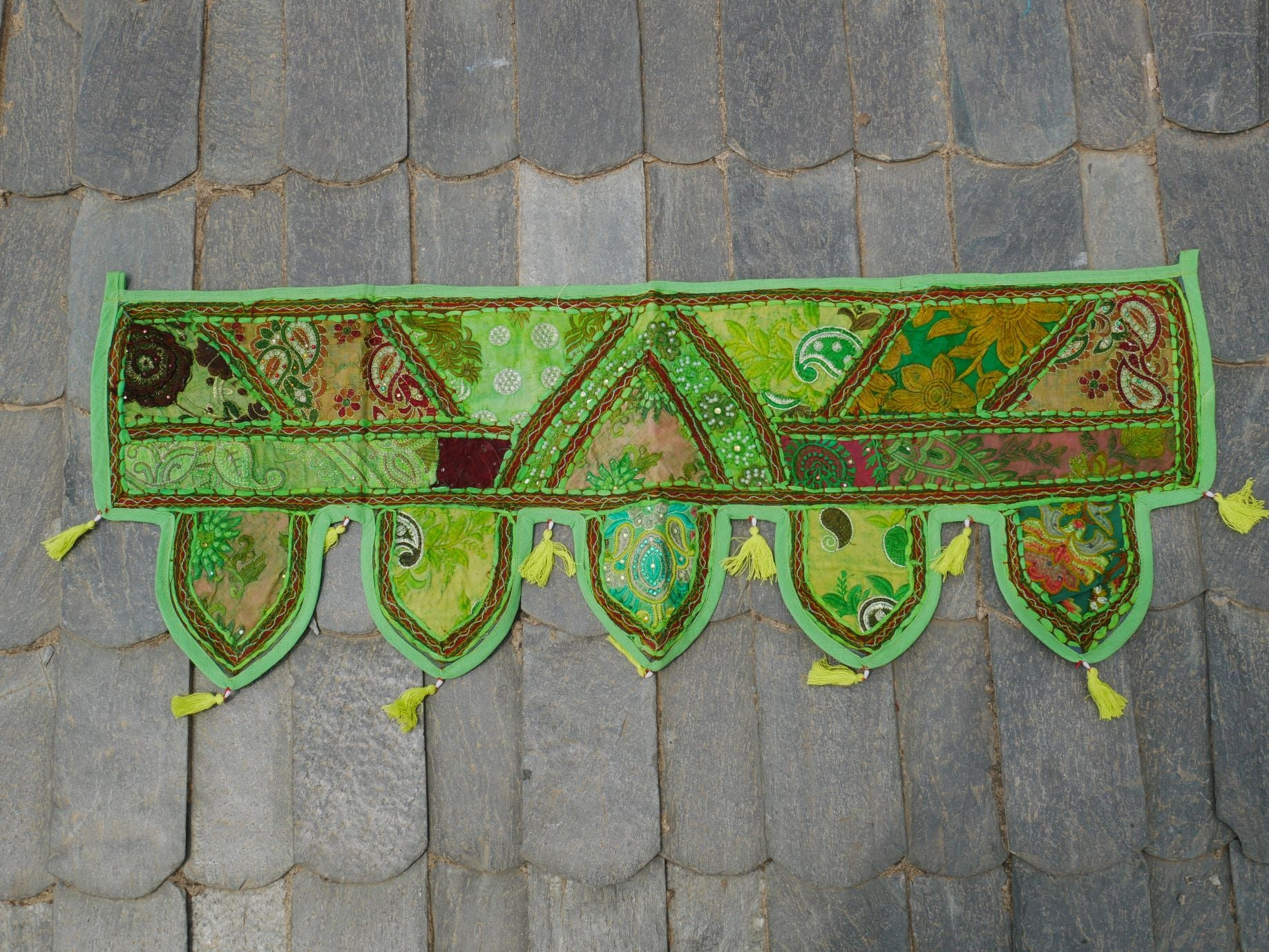 Door Toran - colorful wall decor - hippie decor - gypsy curtain - window valance