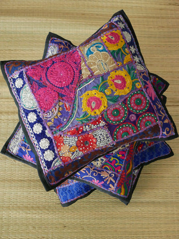 Vintage sari cushion - colorful decorative cushion covers - many colors available