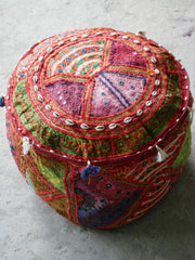 "Flour pouf floor cushion cover - ""Desert flower""- bohemian floor seating - hippie gypsy home decor"