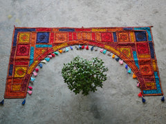 Door Hanging XXL Handmade Patchwork toran - large window valance indian door hanging - gypsy curtain
