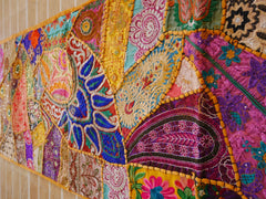 Table runner - vintage saree tapestry - masala table cover - hippie home decor