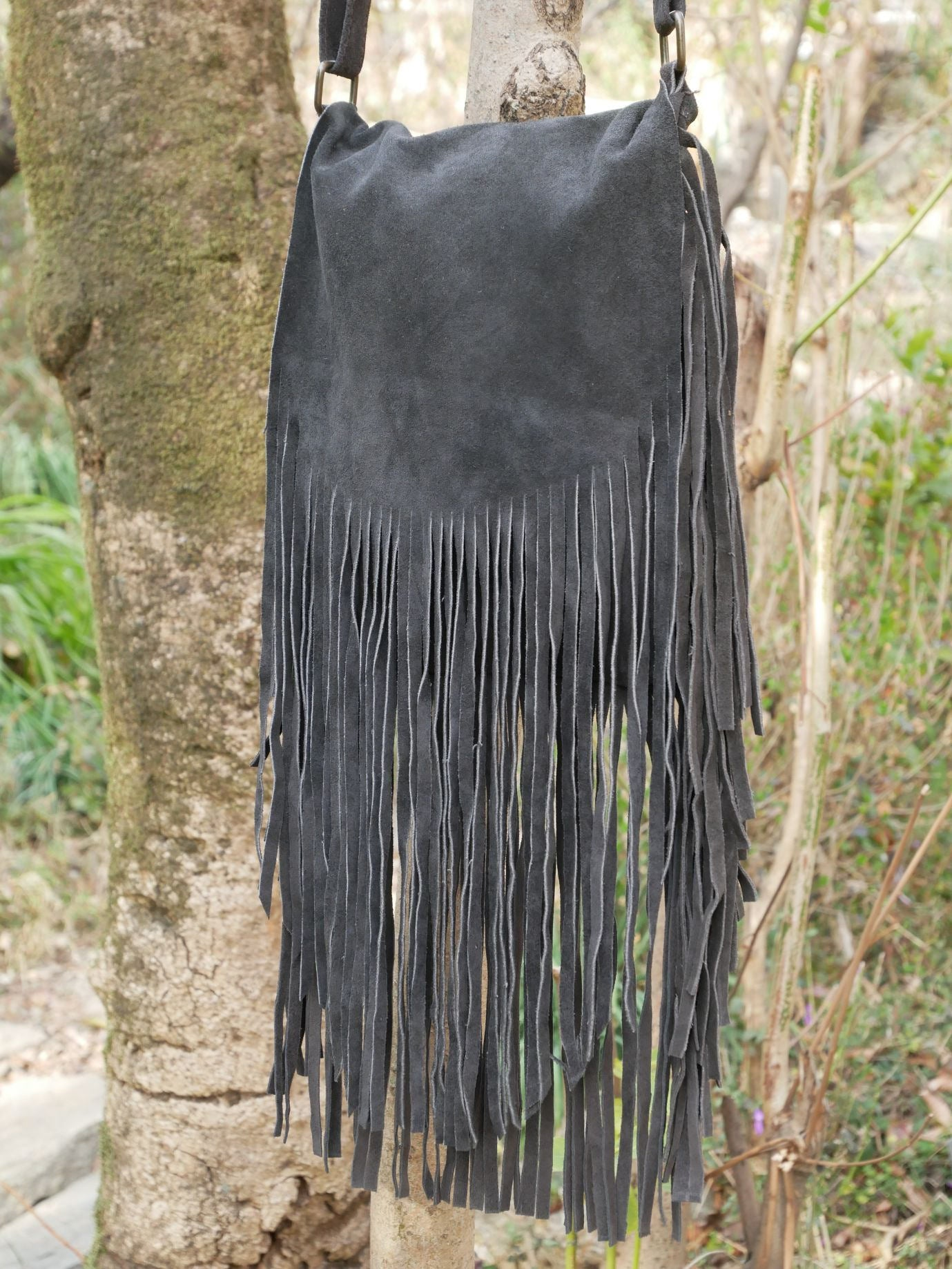 Boho Fringe bag sued leather crossbody bag boho chic shoulder bag