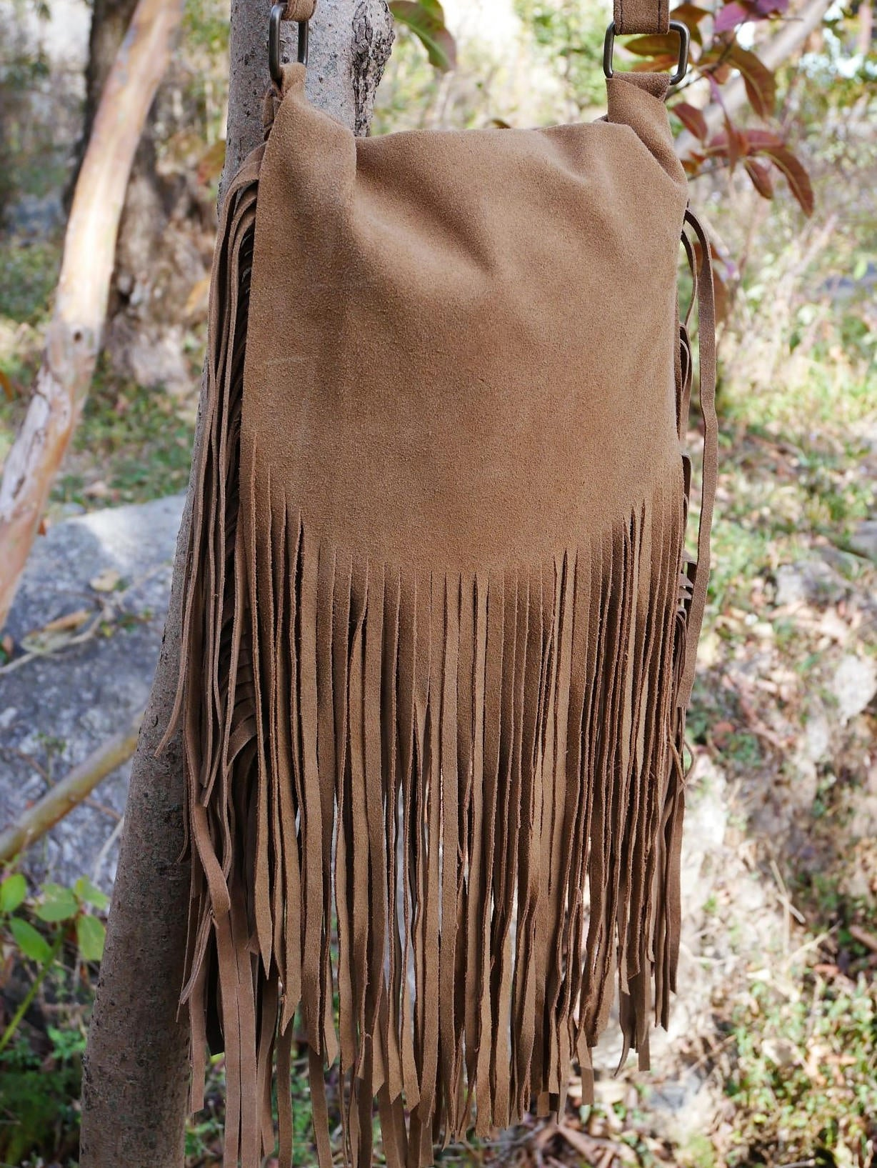 Boho fringe bag sued leather bag boho chic shoulder bag