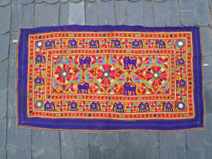 Vintage tribal tapestry | Banjara wall hanging | Indian wall tapestry | traditional Rabari embroidery
