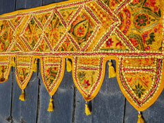 Indian door hanging, colorful toran, Boho tapestry handmade door valance, window decor, hippie wall hanging, bohemian decor Door Toran