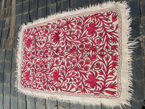 "Kashmiri ""Namda"" wool rug ""Himalayan princess"" 