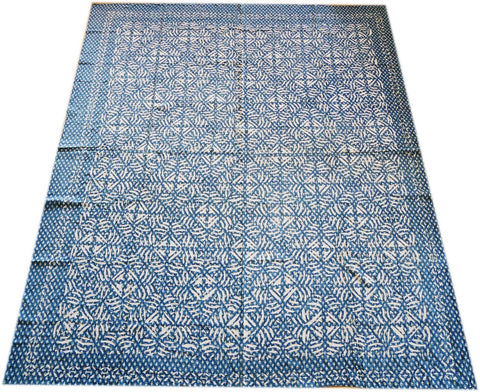 "Queen size ""cutwork"" bedspread - Kantha throw - beautiful handmade boho bed throw"