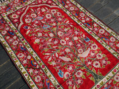 "Kashmiri wool rug ""Mughal Garden"" 3x5 traditional handmade rug for boho bedrooms and oriental home decor 