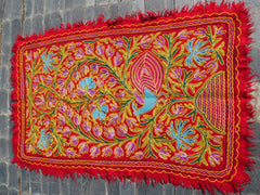 "Kashmiri ""Namda"" Wool area rug ""Kashmir Garden"" 6x4 