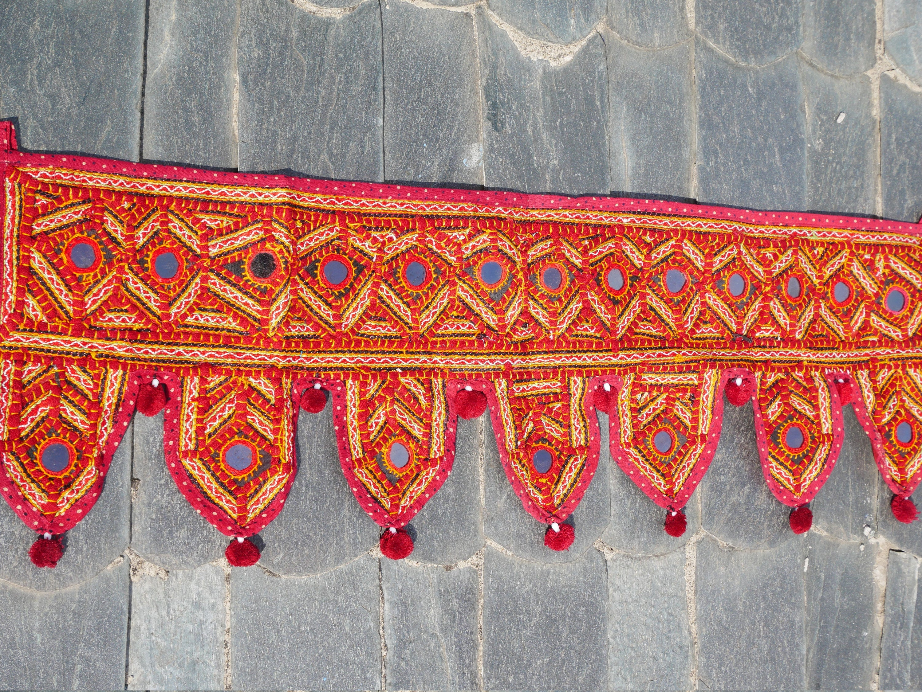 "Indian Toran - ""Kutch"" door hanging or window valence 
