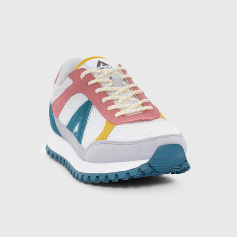 Chase - White Pink Bule - Woman-Asfvlt Sneakers Norge