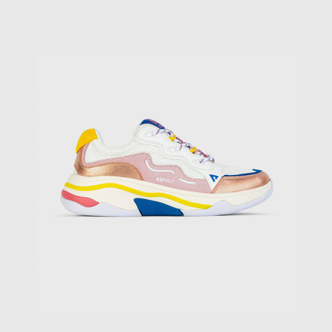 Onset - White Pink Yellow Blue - Woman-Onset-Asfvlt-Asfvlt Sneakers Sko Norge