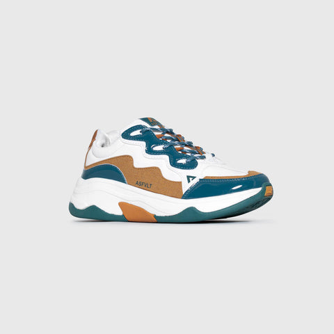 Onset - White Teal Copper Patent - Woman-Onset-Asfvlt-Asfvlt Sneakers Sko Norge