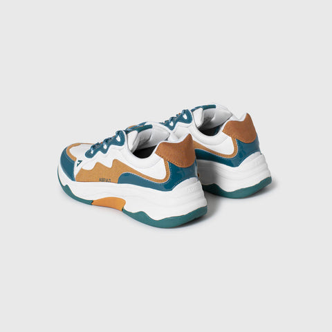 Onset - White Teal Copper Patent - Woman-Asfvlt Sneakers Norge