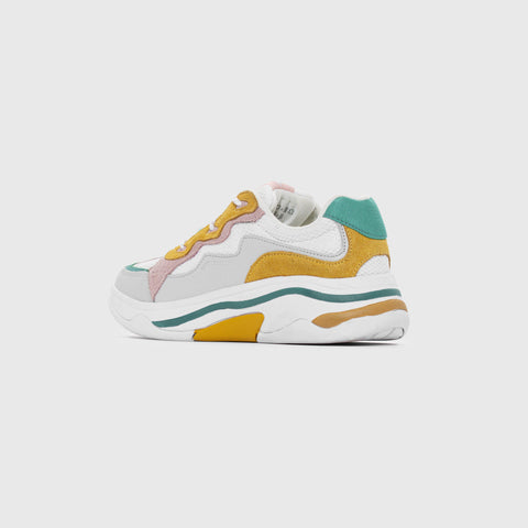 Onset X Merci - White Mimosa Green Pink - Woman-Onset-Asfvlt-Asfvlt Sneakers Sko Norge