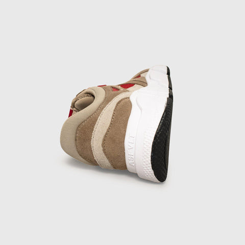 Switch - Tan Taupe Red - Woman-Switch-Asfvlt-Asfvlt Sneakers Sko Norge