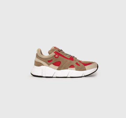 Switch - Tan Taupe Red - Woman-Asfvlt Sneakers Norge