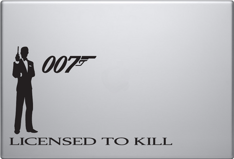 007 Non Mac Macbook Decal