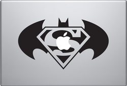 Batman & Superman Apple Macbook Decal