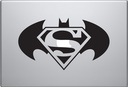 Batman & Superman Macbook Decal