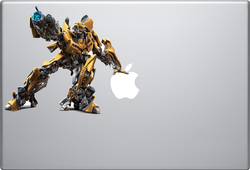 Bumblebee Transformer Macbook Decal