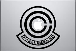 Capsule Corp Macbook Decal