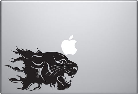 Flaming Cat Macbook Decal