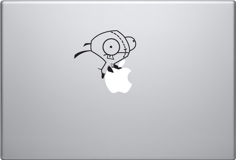 Gir Riding Apple Macbook Decal