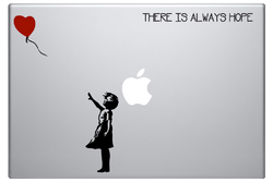 Banksy Girl with Red Balloon Laptop Decal