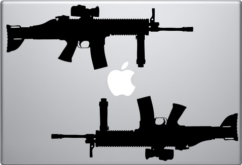 Guns - Two Macbook Decal