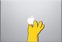 Homer's Hand Macbook Decal