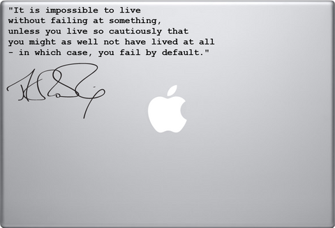 JK Rowling Quote Macbook Decal