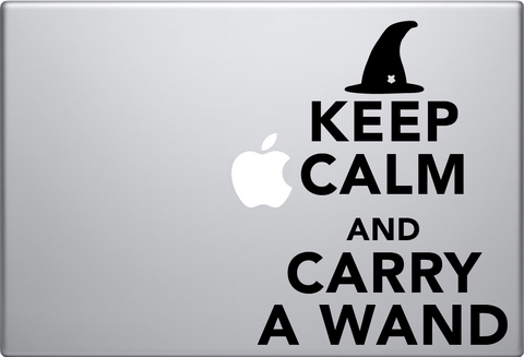 Keep Calm and Carry a Wand Macbook Decal