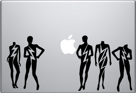 Lady Gaga Mannequin Macbook Decal