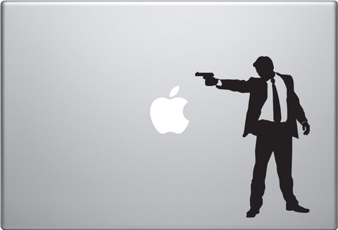 Man Shooting Macbook Decal