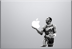 Black and White Michael Jordan Macbook Decal