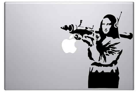 Banksy Mona Lisa Laptop Decal