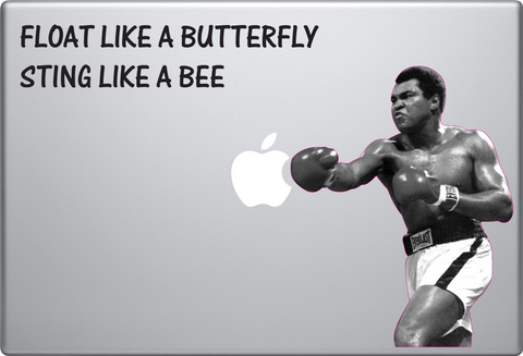 Muhammad Ali Punching Apple Macbook Decal