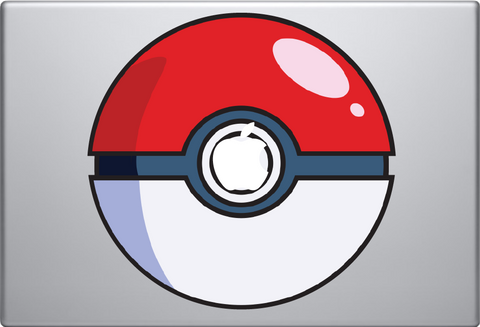 Color Pokeball Macbook Decal