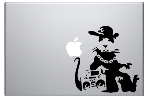 Banksy Rapper Rat Laptop Decal