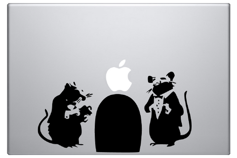 Banksy Rat Hole Laptop Decal