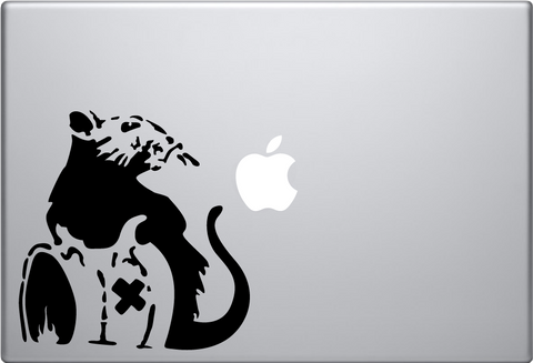Banksy Toxic Rat Laptop Decal