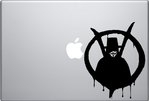 V for Vendetta Macbook Decal